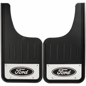 Plasticolor 001837R01 Heavy Duty Front Mud Flaps With Ford Logo New Free Ship