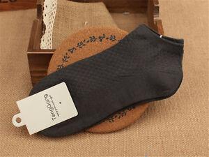 5/10 Pairs Mens Bamboo Fiber Ankle Sock Sport Low Cut Casual Nonslip Short Socks