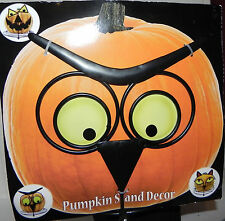 NWT Halloween Metal Pumpkin Stand Decor  Just Add your Pumpking-Owl Design LOOK