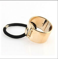New Women Hair Cuff Wrap Ponytail Metal Holder Ring Tie Elastic Hair Band RopeBB