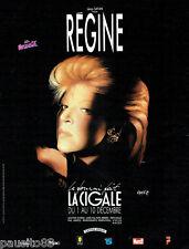 PUBLICITE ADVERTISING 036  1989  Régine  en concert à la Cigale