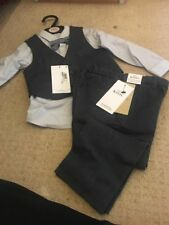Marks And Spencer Boys 18 To 24 Months Navy Waistcoat Set