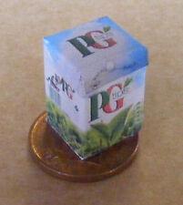 Gran vacío Pg Tips bolsa de té Caja Casa de Muñecas Miniatura Paquete Accesorio De Cocina