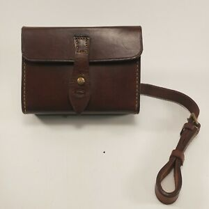 Vintage Leather Binocular Case with Strap and Belt Loops Crosby England Brown