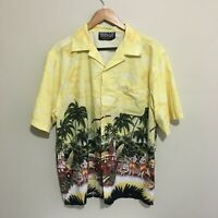 Urban Streetwear Vintage 90's Surfboards Beach Hawaiian Shirt Mens Large