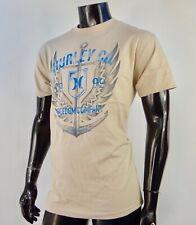 New Hurley Surfing Team Classic Anchor Khaki Mens S/S T Shirt HRL-149