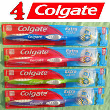 4 COLGATE Extra Clean Toothbrushes Medium Full Head #97 - NEW