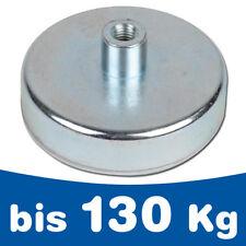 Flachgreifer Magnet Topfmagnet Hartferrit Gewinde-Buchse Ø10 - 125mm - bis 130kg