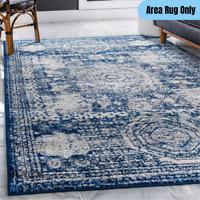 5 x 8 ft. Traditional Area Rug Geometric Oriental Vintage Medallion Pattern Blue