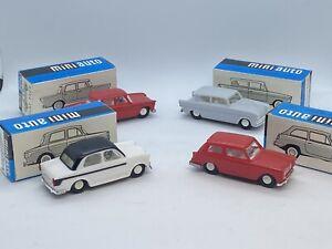 4 x KDN Miniauto 70er Jahre OVP Fiat 1100 und 1300 Lusso Ford Anglia Austin A40