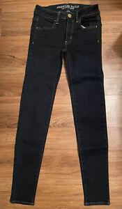 American Eagle Jegging Classic Blue Dark Wash Super Stretch Jeans Size 00