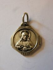 Médaille Pendentif Vierge Jesus France en Argent Plaqué Silver Silber