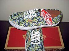 Vans Womens Authentic + Paisley Dress Blues Canvas Shoes Size 7.5  VN0004OPITN