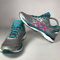 Asics Gel- Cumulus 18 Running Shoe T6C8N Silver Pink Glow Lapis Size 10.5