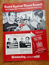1953 Pall Mall Cigarette Ad Skiing Theme at Mountain Cabin