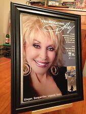 "BIG 10x13 FRAMED DOLLY PARTON ""BLUE SMOKE"" LP ALBUM CD & TRIBUTE PROMO AD"