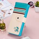 Cute Cat Love Women Clutch Checkbook Money Clip Change Bag Purse Handbag Wallet