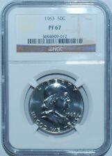 1963 NGC PR67 Proof Strike Franklin Half Dollar