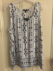 Luca and Marc white aztec print singlet size 12