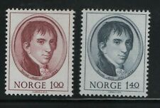 Norway Stamps 1973 Sg 704-705 Anniv of the birth of Jacob All Mounted Mint