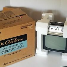 "Vintage 1960's Wards Airline 9"" All Transistor Television Tv Model 63-1967 Euc!"