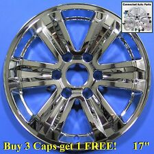 "Fits OEM wheels 15-16 Ford F150 17"" WHEEL COVER SKIN CAP OVERLAY chrome WS-FD07"
