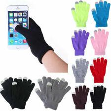 Women Men Winter Knit Touch Screen Gloves Smart Phone Tablet Full Finger Mittens