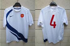 VINTAGE Maillot QUINZE de FRANCE Nike CHABAL 4 Coupe du Monde 2007 shirt L rare
