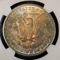 1880-S MORGAN $1 Silver DOLLAR ** NGC MS 65 ** DRAMATIC TONING Lot#C028