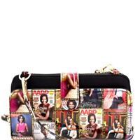 Magazine Cover Michelle Obama Versatile Wallet Cellphone Holder Cross Body Bag
