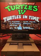 Teenage Mutant Ninja Turtles IV Turtles in Time SNES Super Nintendo TESTED WORKS