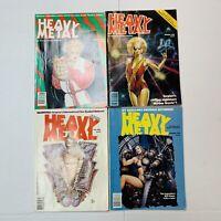 Lot Of 4 1988 Heavy Metal Adult Illustrated Fantasy Magazines Comics Sci Fi Fall