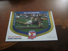 2014 NRL ESP TRADERS 2013 SYDNEY ROOSTERS PREMIERS TEAM SEASON TO REMEMBER CARD