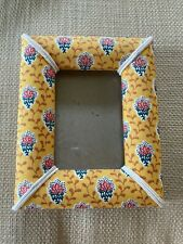 Vintage Provencale Pierre Deux Fabric Covered Picture Frame
