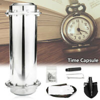 """13.5"""" Stainless Steel Time Capsule Waterproof Container/Storage Future"""