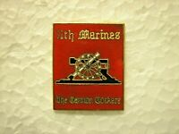 UNITED STATES MARINE CORPS HAT PIN - 11th MARINES - THE CANNON COCKERS