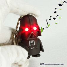 Lot 20 x Cartoon Series Black Knight creative LED luminous voice Keychain