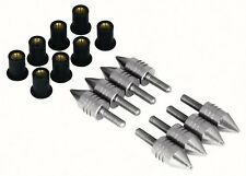 8 Silver Alloy Spike Bolts Motorcycle Scooter Fairing Streetfighter Quad Trike