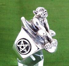 Stainless Gargoyle Ring Custom Sized Mythological Monster Architecture R-86ss