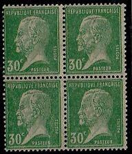 TIMBRES FRANCE BLOC de 4 n°174 couleur vert jaune papier sulfurisé NEUF**