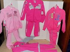 4 Toddler Girl's Sweatshirt Pant's Hoodie Size 3T PRINCESS SUPER STAR Pink NWT
