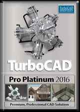 TurboCAD Pro Platinum 2016 PC Software