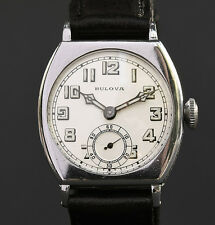 RARE! 1928 Antique BULOVA 'SPARTAN' 10AN 15J ART DECO SWISS WATCH MEN 14K GF