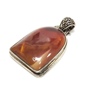 Ladies Lovely large stone pendant in sterling silver