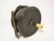 """Vintage Antique Dingley 4 1/8"""" Alloy Salmon Fly Fishing Reel - Retaining Well..."""