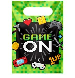 GAME ON LOOT BAGS Birthday Party Supplies Boys Gift Pack Kids Party Child Gaming