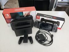 Nintendo Switch 32GB Gray Joycon, Original Box, Grip, 128 gb SD card and Case
