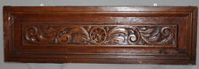 VINTAGE HAND CARVING WOOD WALL HANGING FLORAL FLOWER PLAQUE