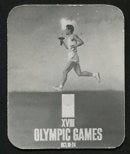 h468 Japan Tokyo 1964 Summer Olympic Games Original time zone clock card Romania