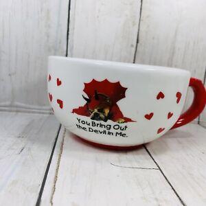 Russ 2005 Zelda Wisdom You Bring Out The Devil In Me Ceramic Mug  Boxer Dog